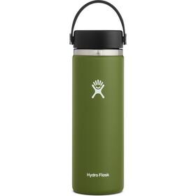 Hydro Flask Wide Mouth Bidón con Tapa Flex 591ml, Oliva